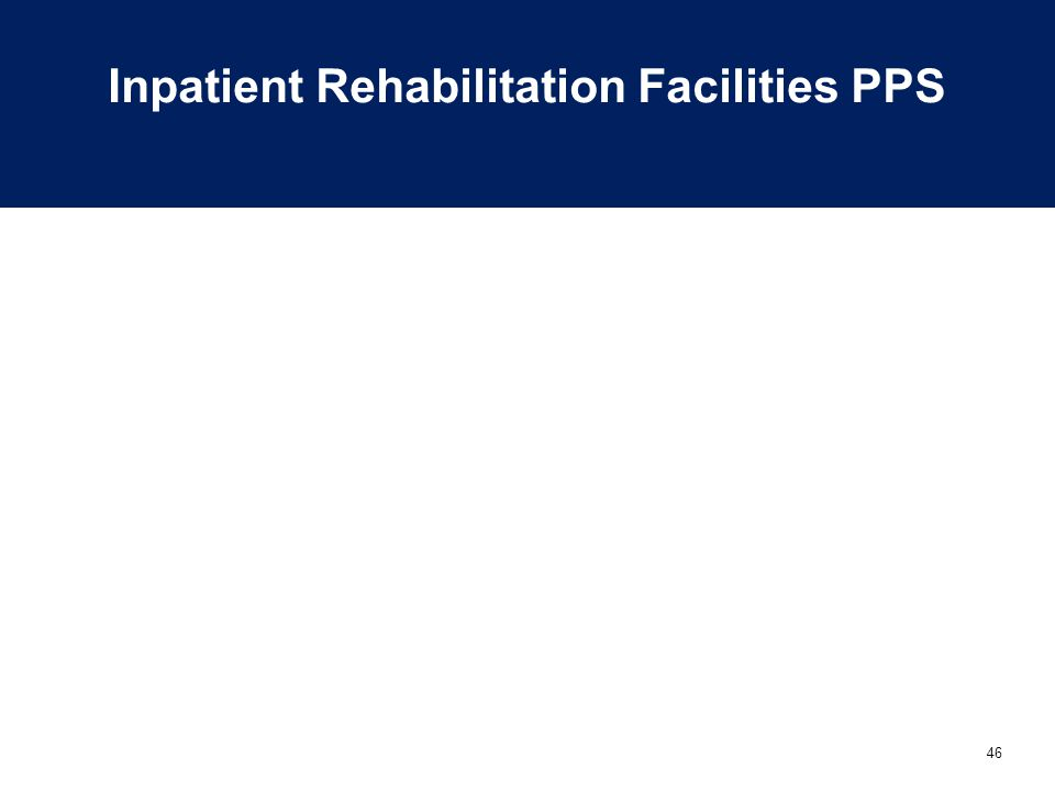 Inpatient Rehabilitation Facilities PPS