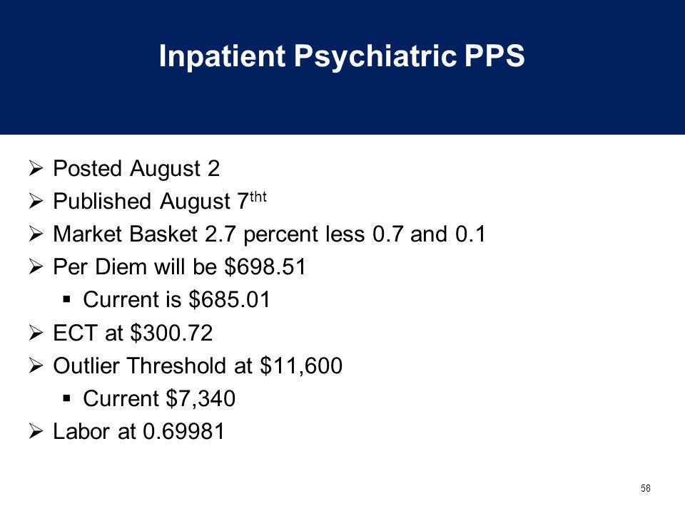 Inpatient Psychiatric PPS
