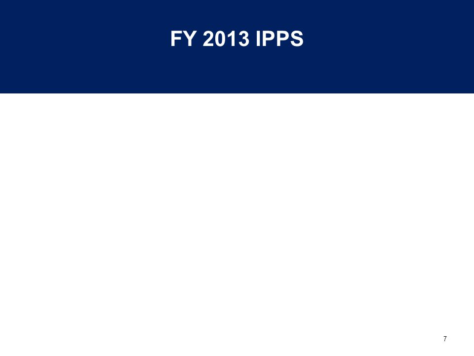 FY 2013 IPPS