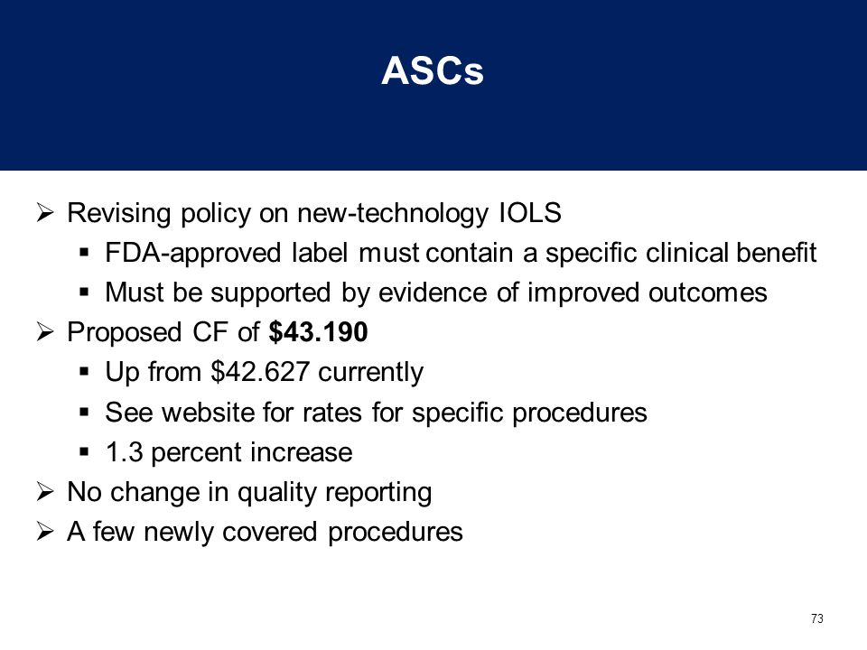 ASCs Revising policy on new-technology IOLS