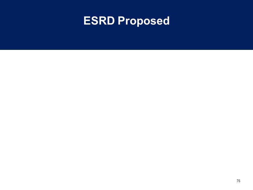 ESRD Proposed