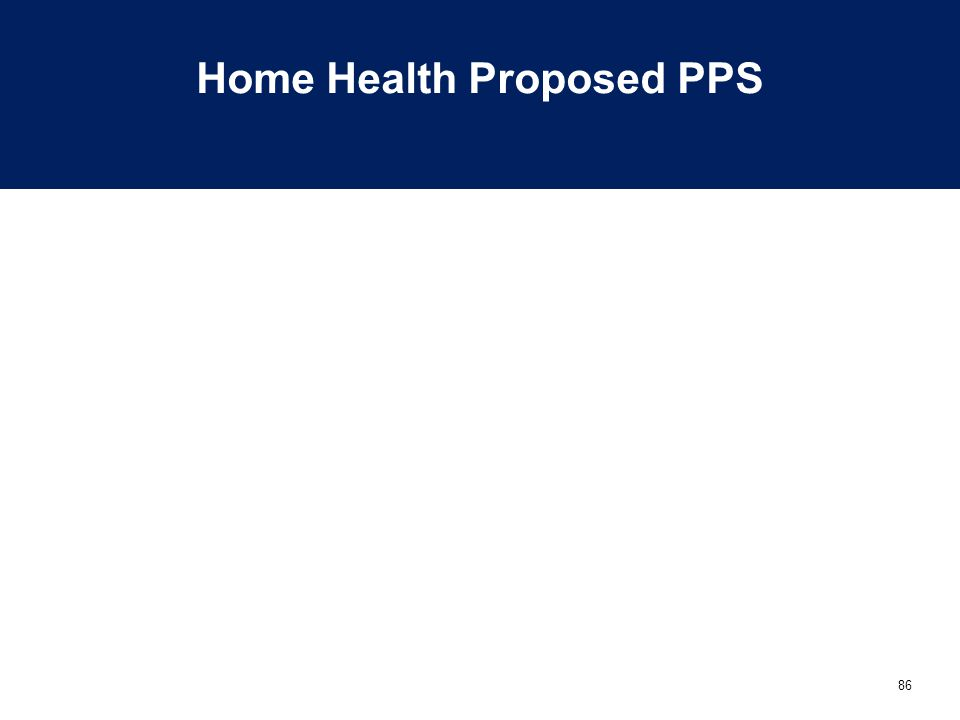 Home Health Proposed PPS