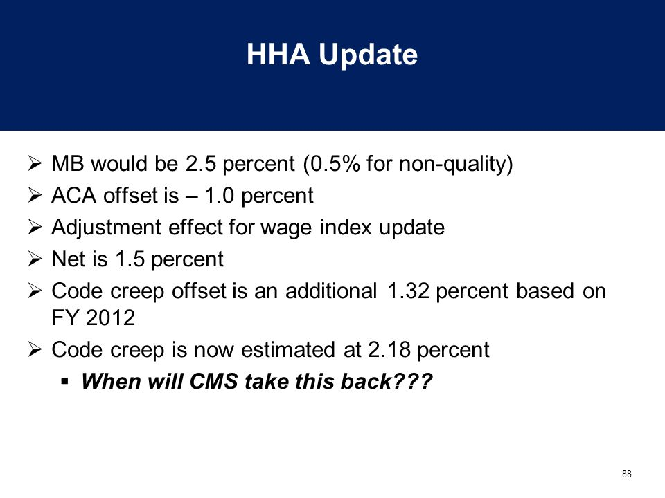 HHA Update MB would be 2.5 percent (0.5% for non-quality)