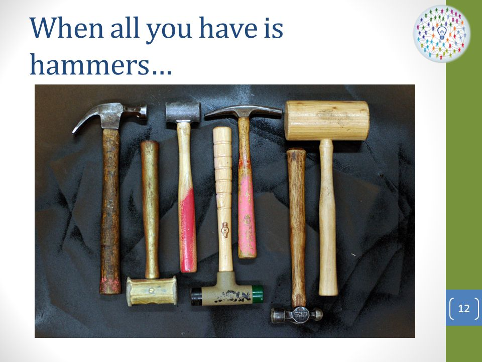 When all you have is hammers…