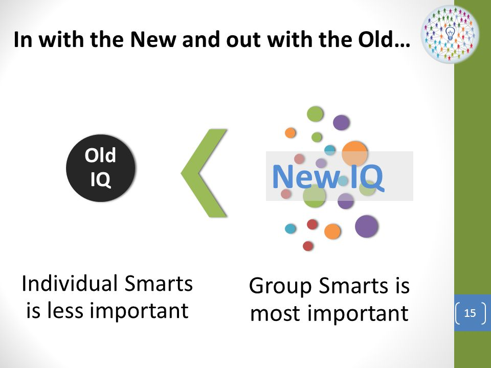 New IQ Individual Smarts is less important