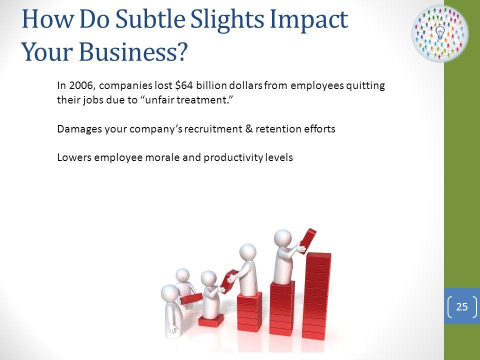How Do Subtle Slights Impact Your Business