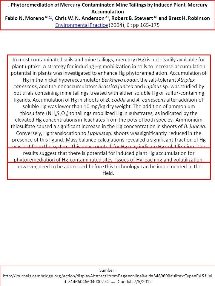 Environmental Practice (2004), 6 : pp 165-175
