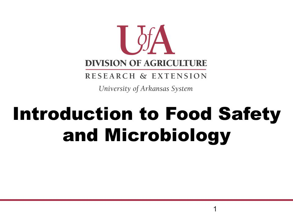 Introduction to Food Safety and Microbiology