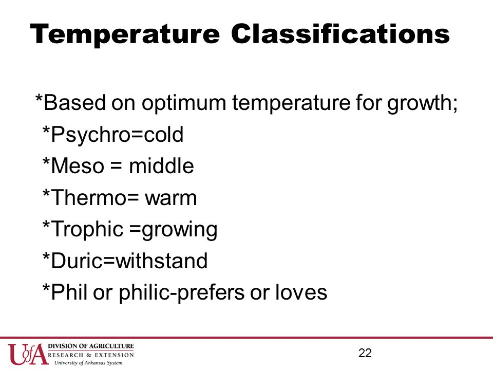 Temperature Classifications