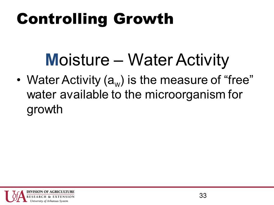 Moisture – Water Activity