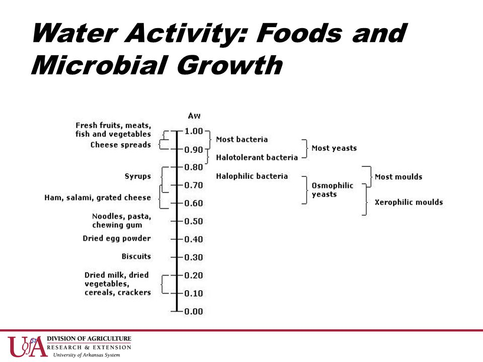 Water Activity: Foods and Microbial Growth