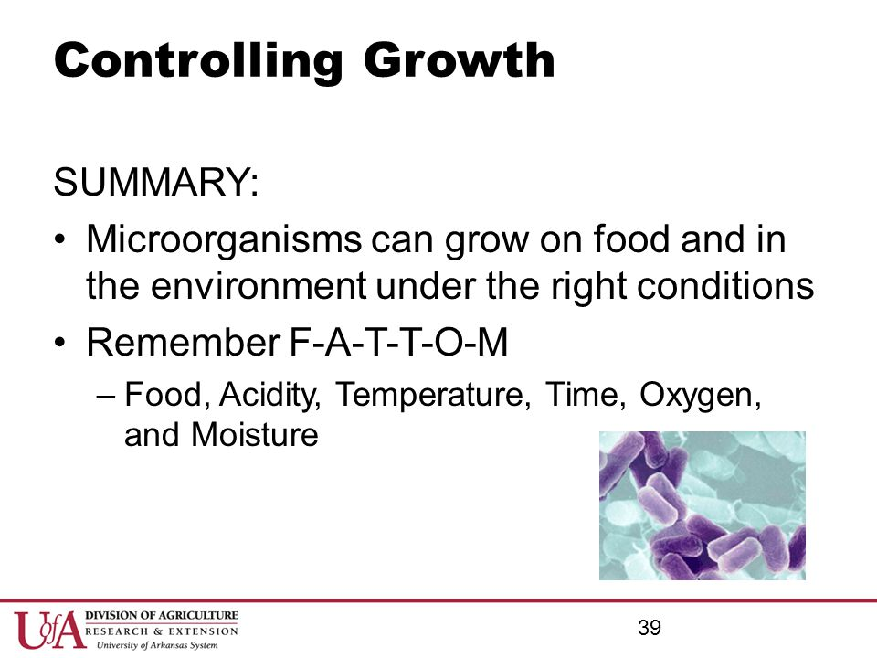 Controlling Growth SUMMARY: