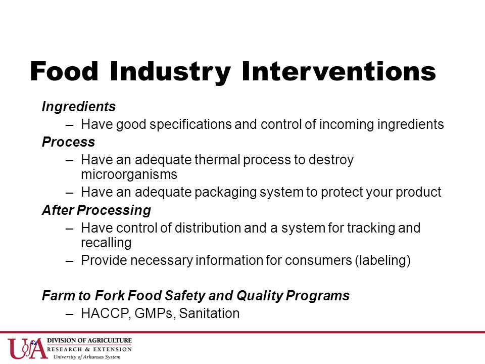Food Industry Interventions
