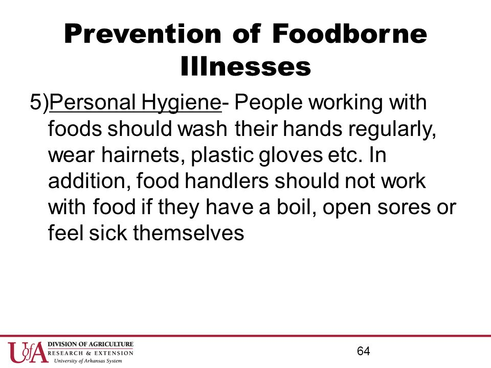 Prevention of Foodborne Illnesses