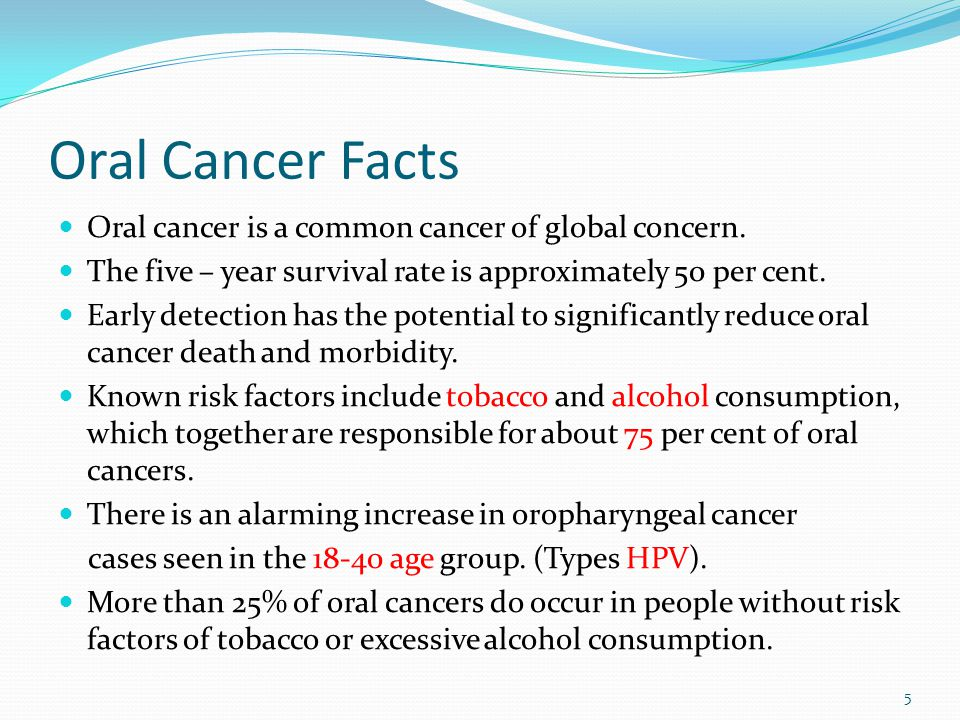from Rohan facts about oral cancer