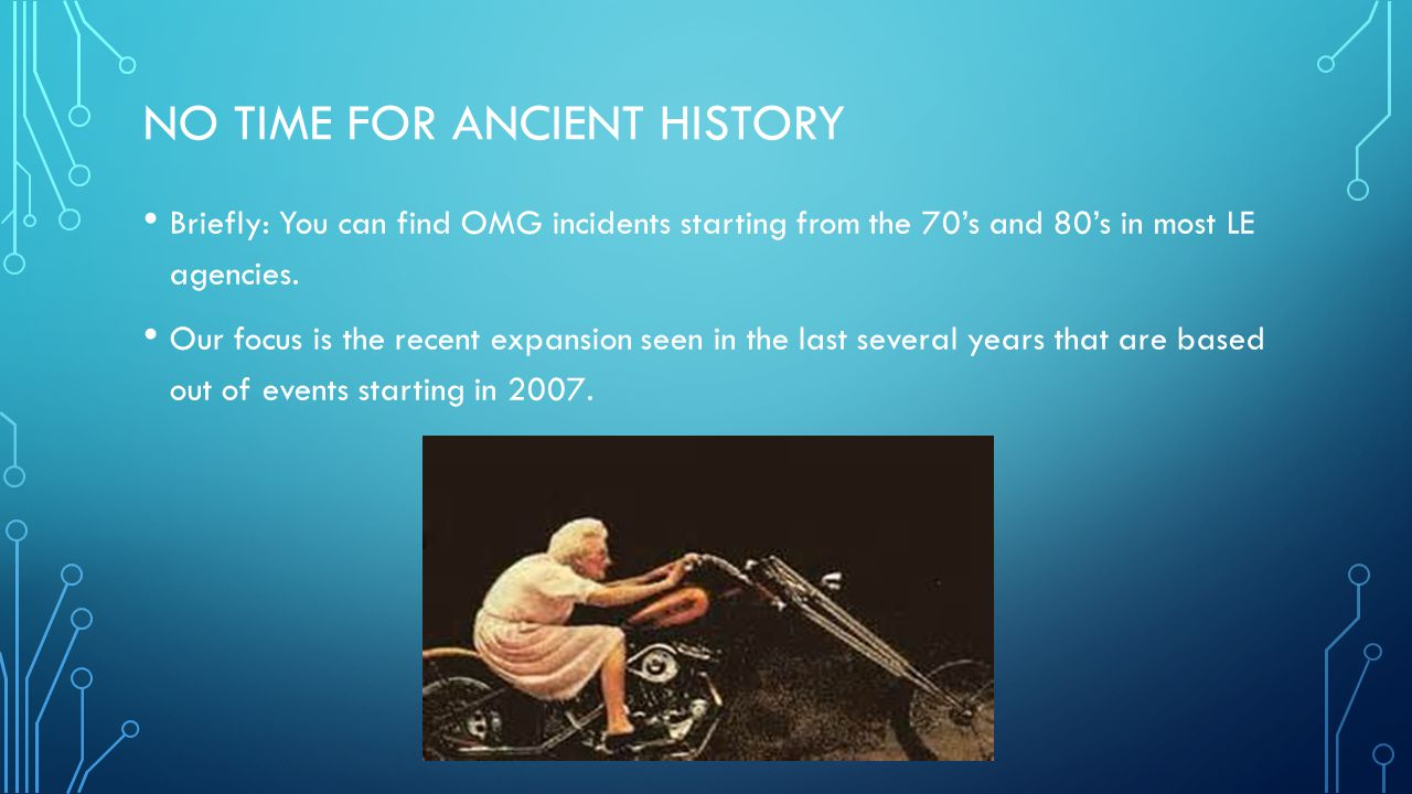 No time for ancient history