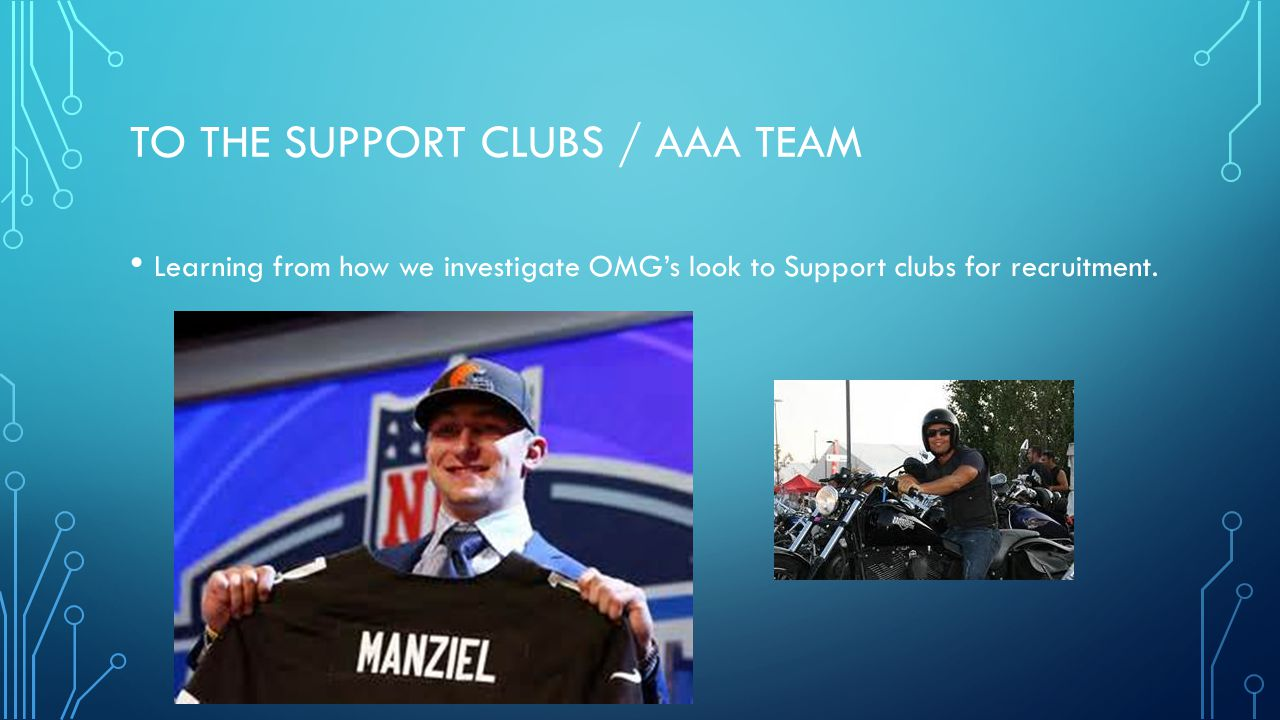 To the support clubs / AAA team