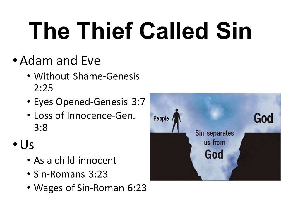 The Thief Called Sin Adam and Eve Us Without Shame-Genesis 2:25