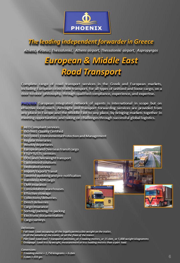 European & Middle East Road Transport