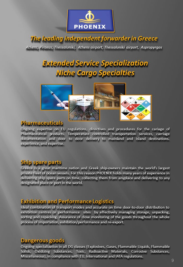 Extended Service Specialization Niche Cargo Specialties