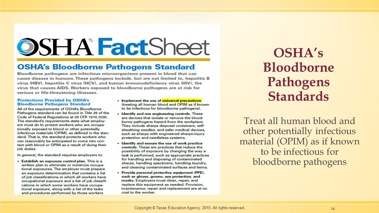 OSHA's Bloodborne Pathogens Standards