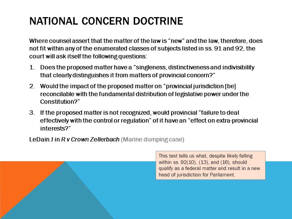 National Concern doctrine