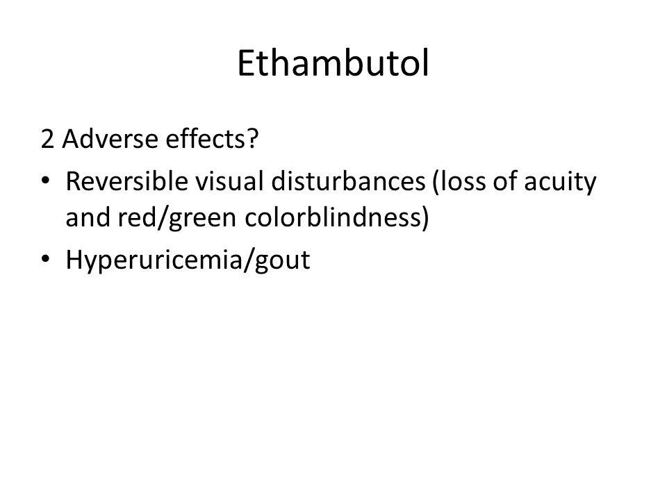 Ethambutol 2 Adverse effects