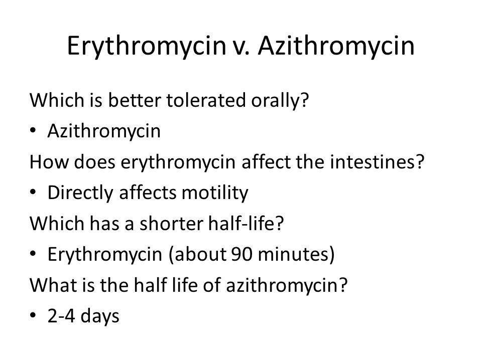 Erythromycin v. Azithromycin