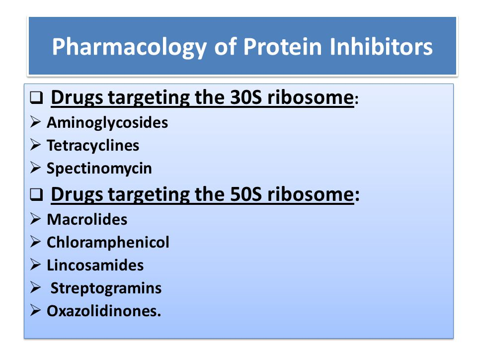 Pharmacology of Protein Inhibitors