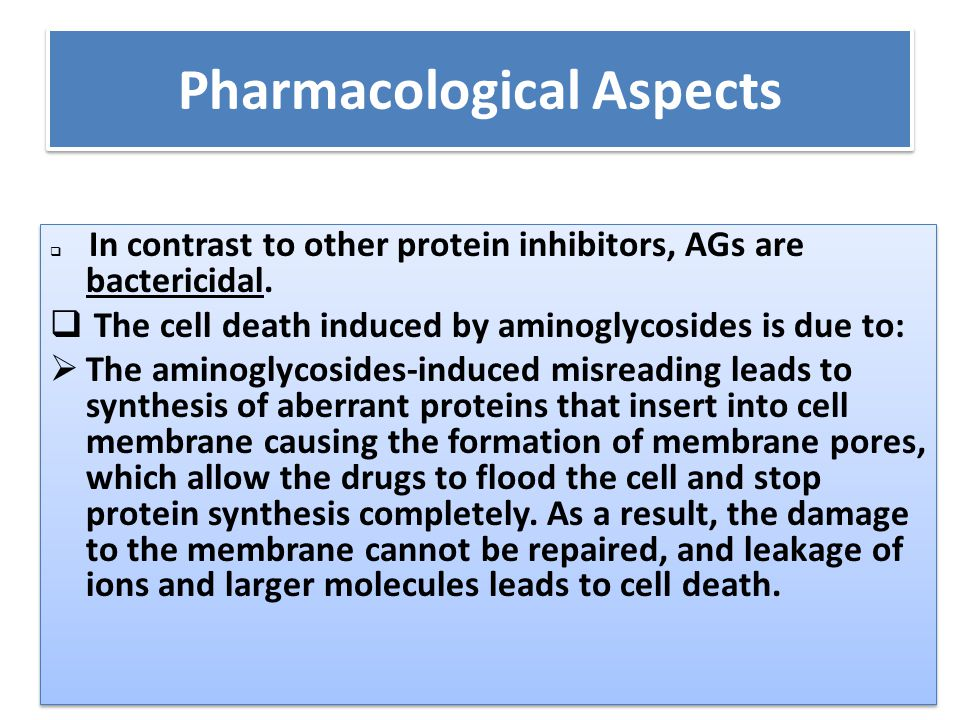 Pharmacological Aspects