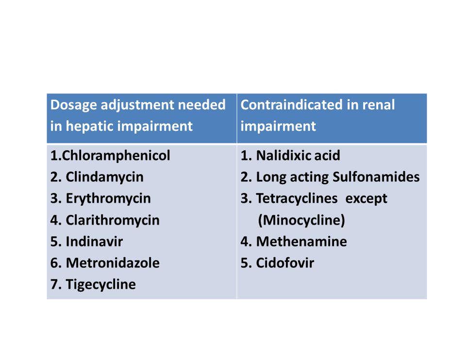 Dosage adjustment needed in hepatic impairment