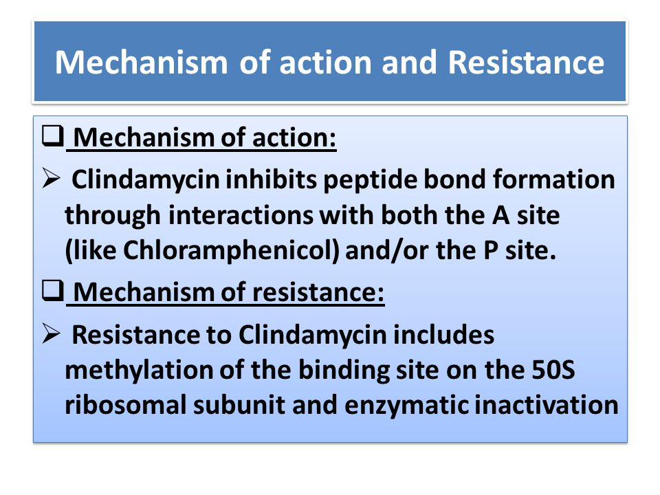 Mechanism of action and Resistance