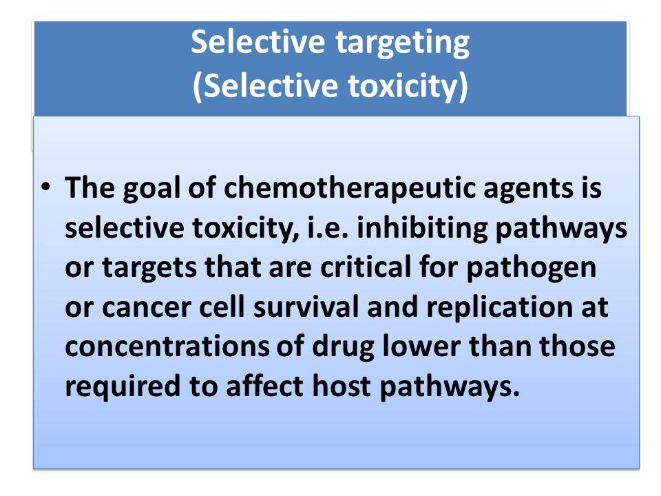 Selective targeting (Selective toxicity)