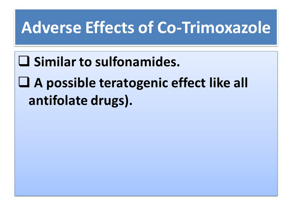 Adverse Effects of Co-Trimoxazole