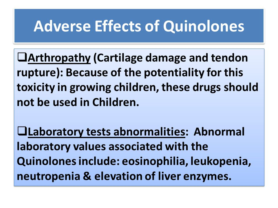 Adverse Effects of Quinolones