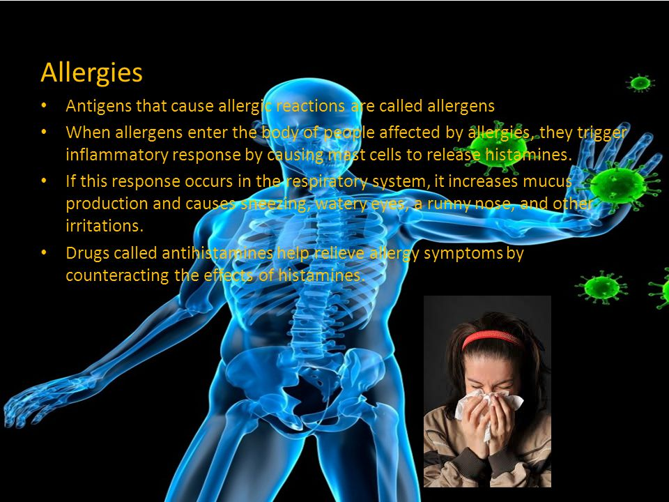 Allergies Antigens that cause allergic reactions are called allergens