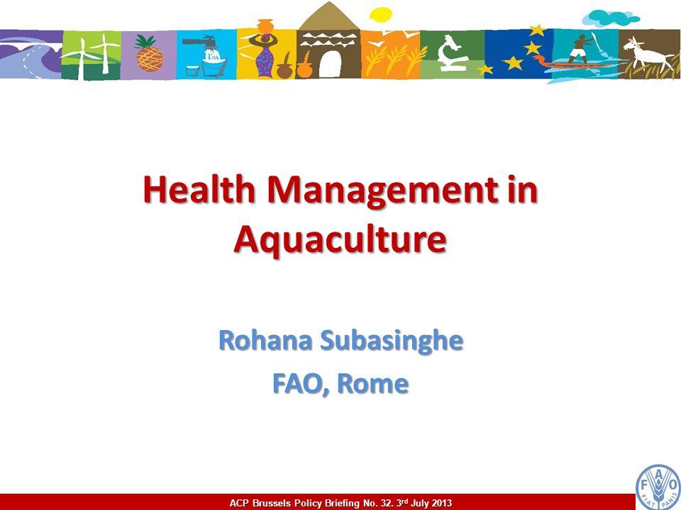 Health Management in Aquaculture
