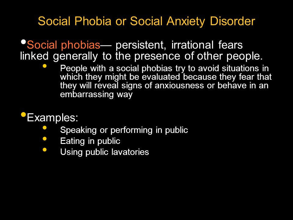 Social Phobia or Social Anxiety Disorder