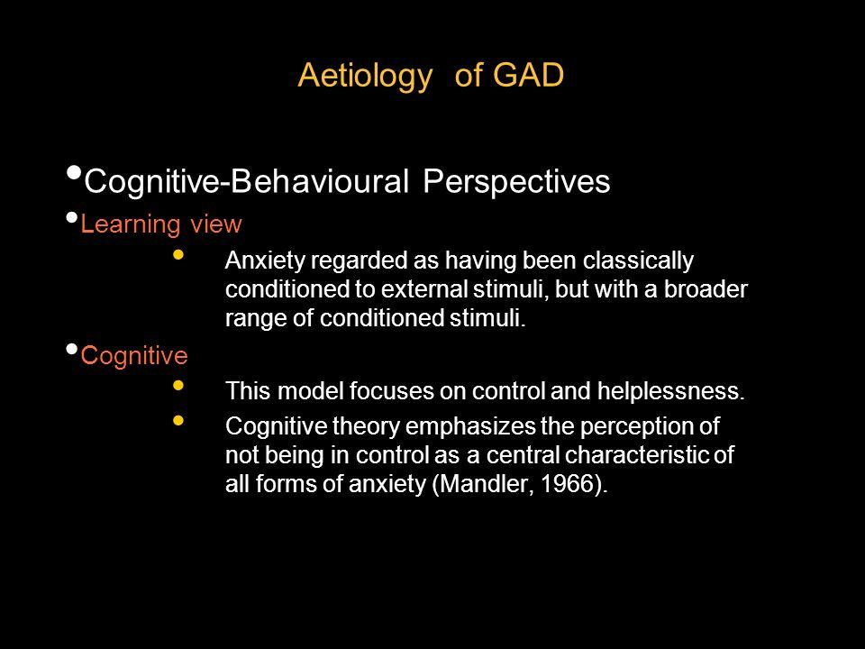 Cognitive-Behavioural Perspectives