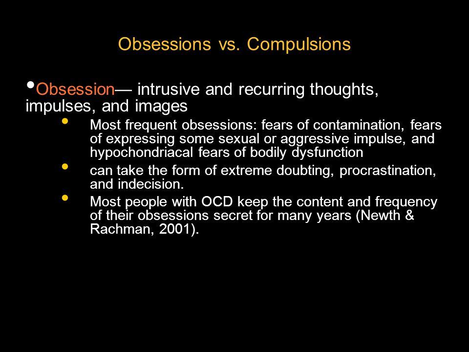 Obsessions vs. Compulsions