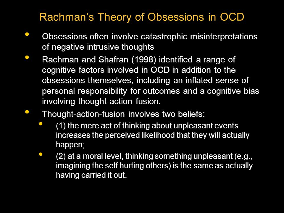 Rachman's Theory of Obsessions in OCD