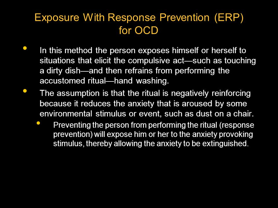 Exposure With Response Prevention (ERP) for OCD