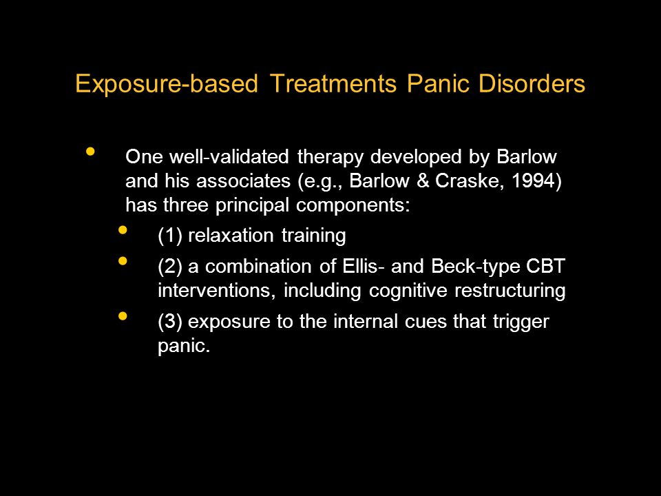 Exposure-based Treatments Panic Disorders