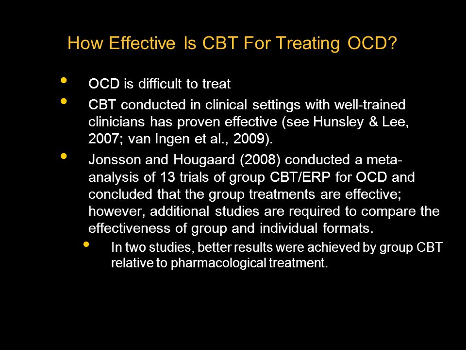 How Effective Is CBT For Treating OCD