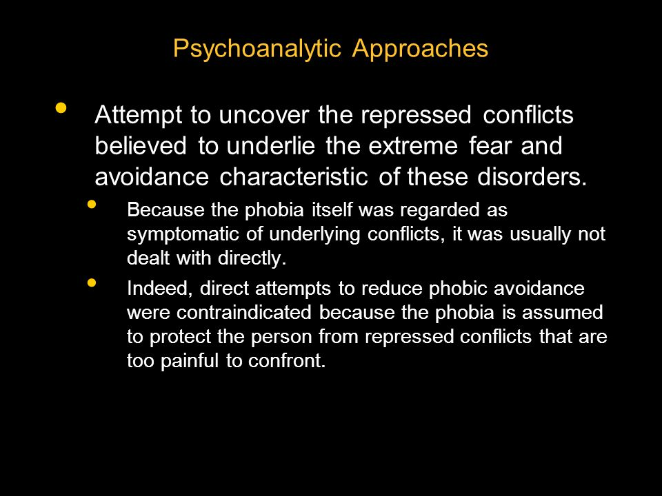 Psychoanalytic Approaches