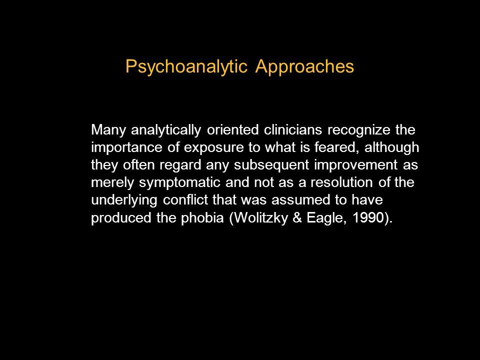 Psychoanalytic Approaches