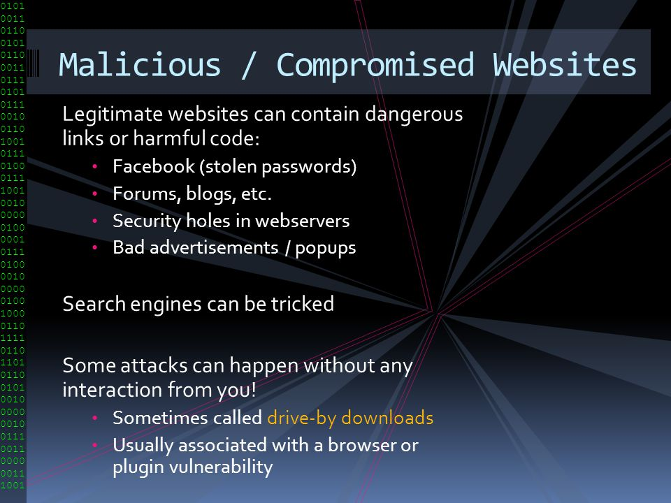 Malicious / Compromised Websites