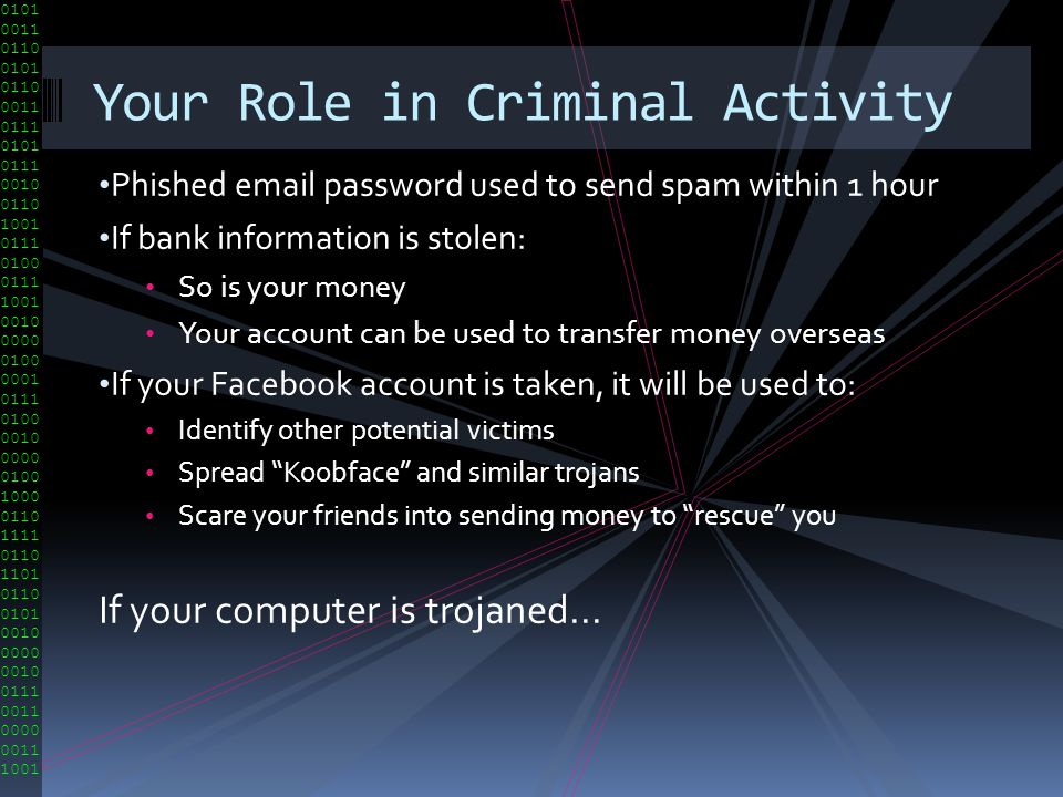 Your Role in Criminal Activity