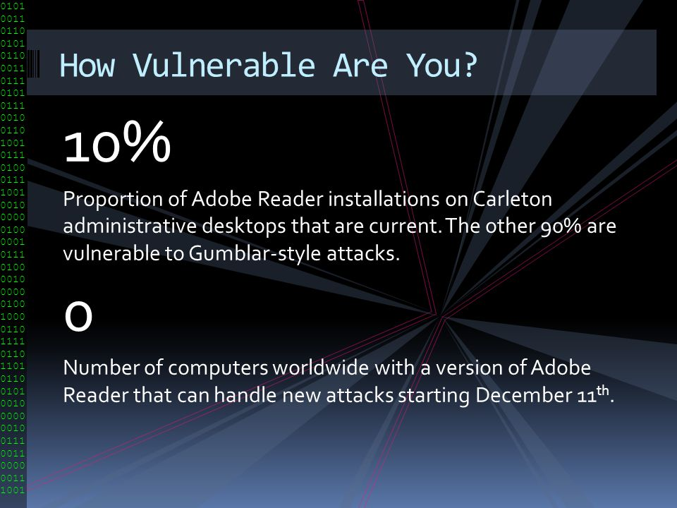 10% How Vulnerable Are You
