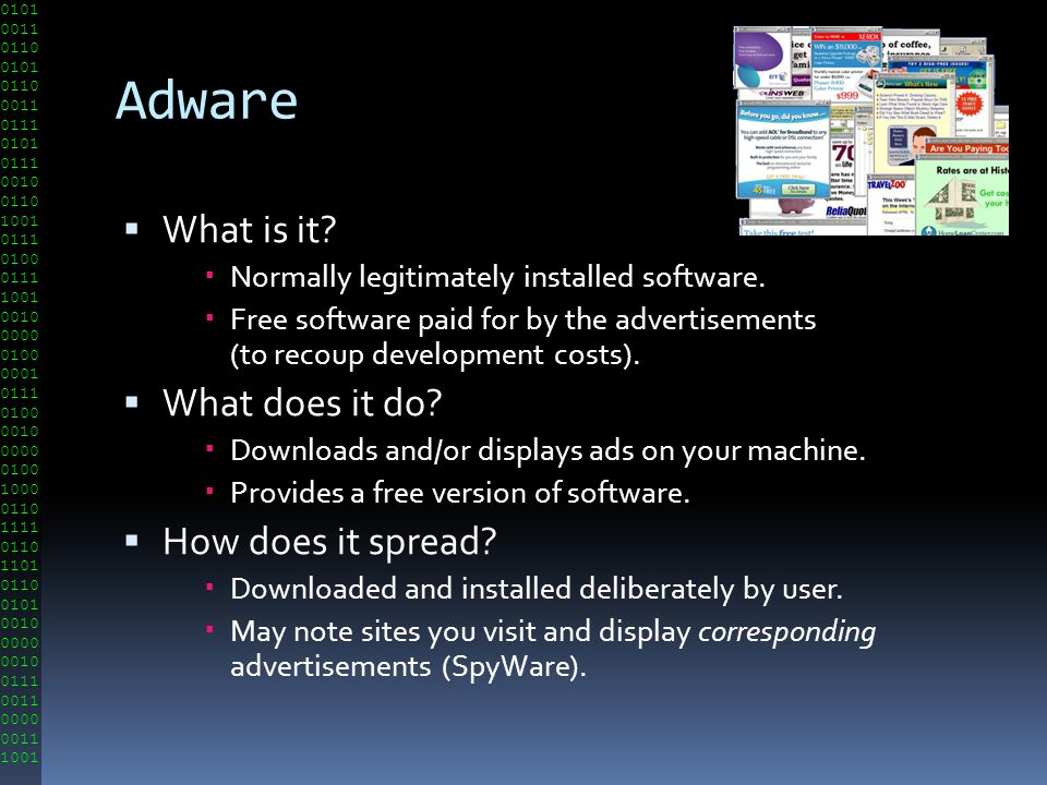 Adware What is it What does it do How does it spread